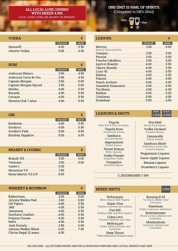Pieros Cafe - Drinks 2