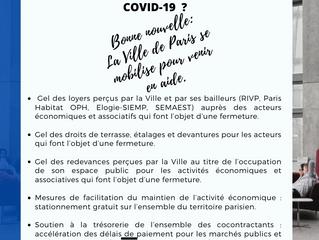 Le saviez-vous? La ville de Paris aide les entreprises parisiennes en difficulté (Covid 19)