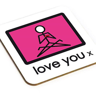 Yogastickmen® Love You Yoga Coaster