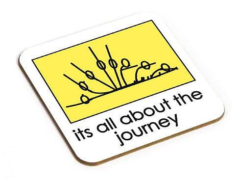 Yogastickmen Yoga Gifts  - It's all about the Journey Coaster
