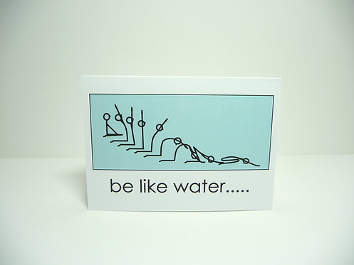 Yogastickmen® Be Like Water Yoga Card
