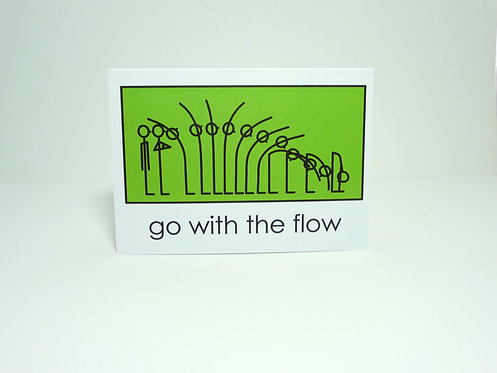 Yogastickmen® Go with the Flow Yoga Card