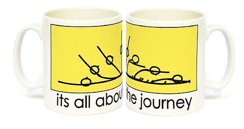 Yogastickmen Yoga Gifts  - It's all about the Journey Mug,