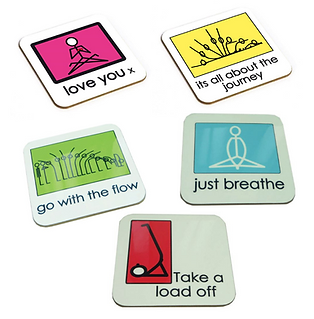 Yogastickmen® Coasters