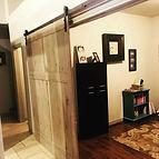 She's done! Oversized barn door installe
