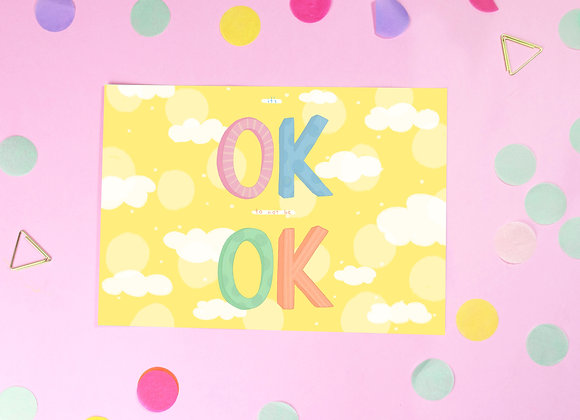 Ok Postcards - It's Ok to not be Ok Postcard