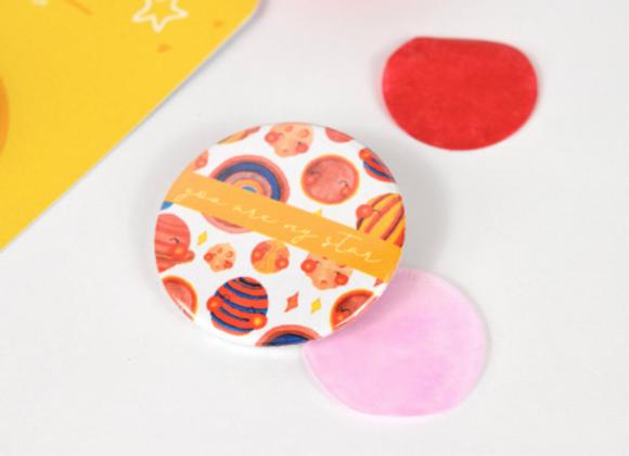 Planets Button Badge Design