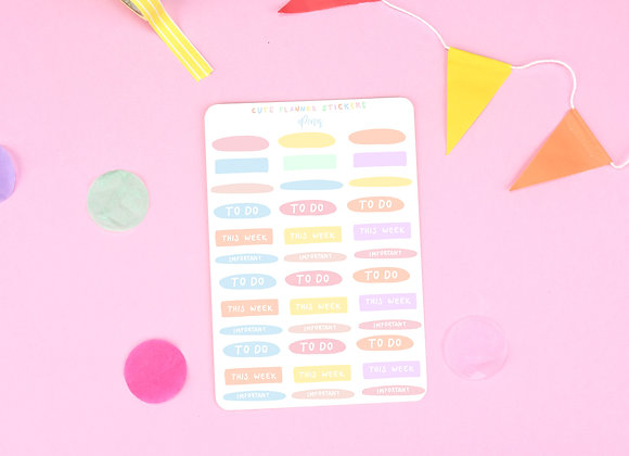 Planner Sticker Sheet 01