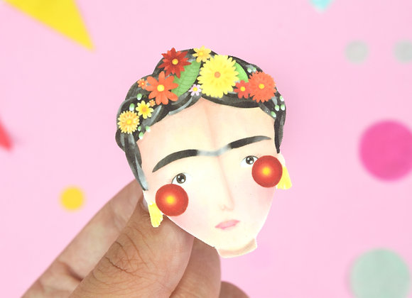Handmade Frida Pin