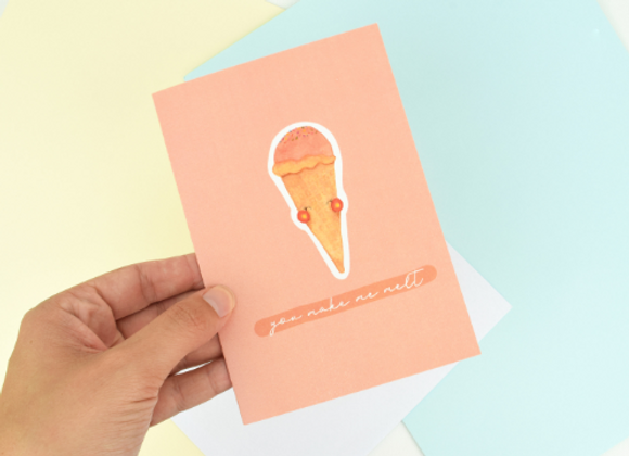 Greeting Card Ice Creams