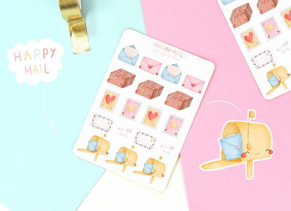 Happy Mail Sticker Sheet 02