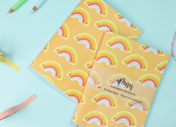 SECONDS Orange Rainbow Notebook