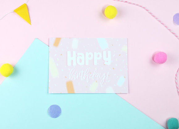 SECONDS Happy Birthday Postcards