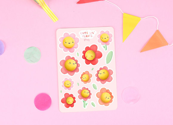 Flowers Sticker Sheet 01