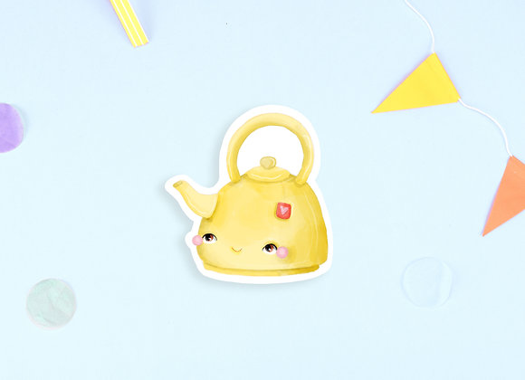 Yellow Tea Pot Sticker