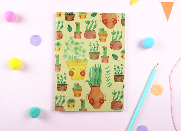Large Cactus Brown notebook