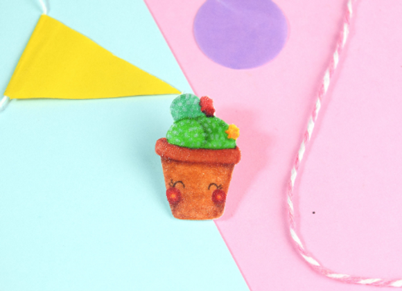 Handmade Cactus Pin