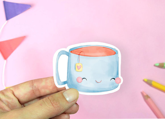 Blue Tea Sticker