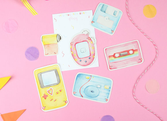 90's Theme Sticker Pack