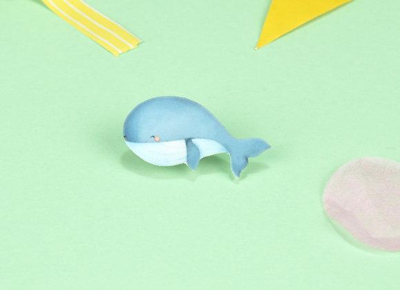 Handmade Whale Pin