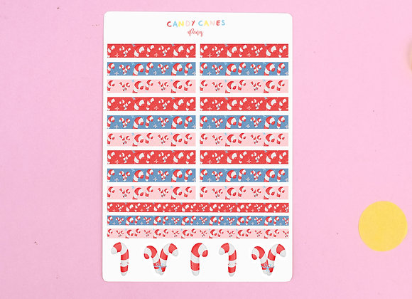 Candy Canes Sticker Sheet 02