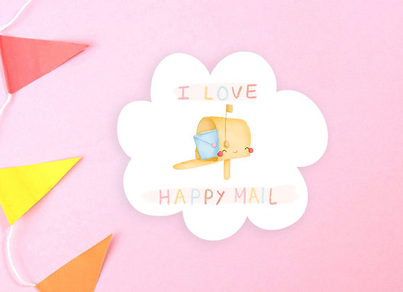 I Love Happy Mail Vinyl Sticker 02