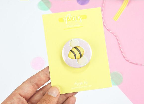 Bee Button Badge Design