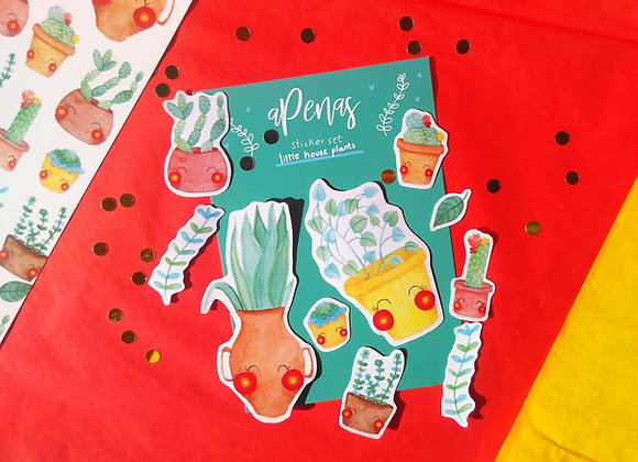 Cute Little House Plants Sticker Set