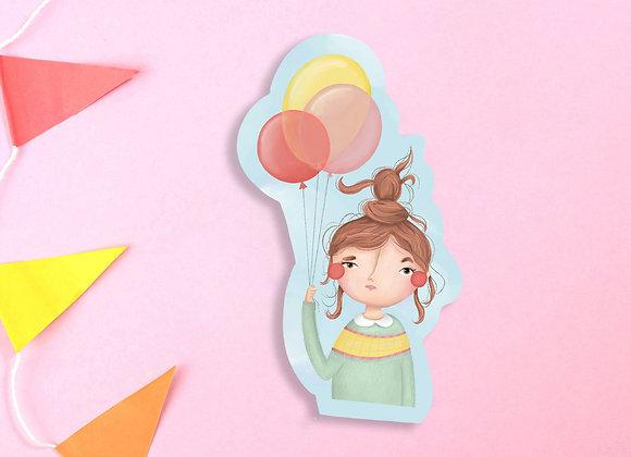 Baloon Girl Vinyl Sticker