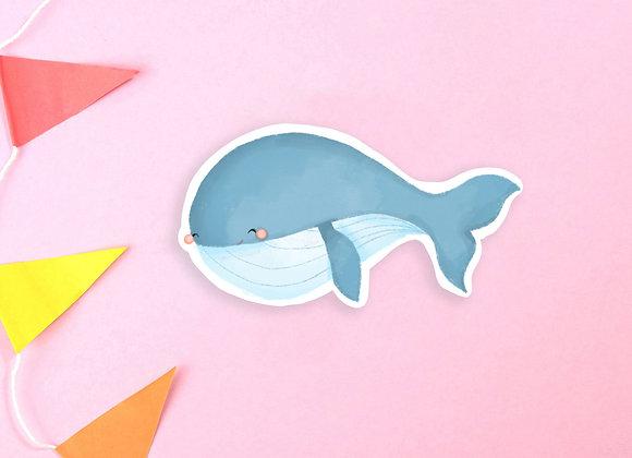 Whale Vinyl Sticker