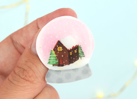 Pink Snow Globe