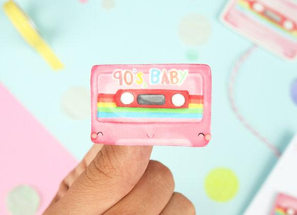 Handmade Mixtape Pin