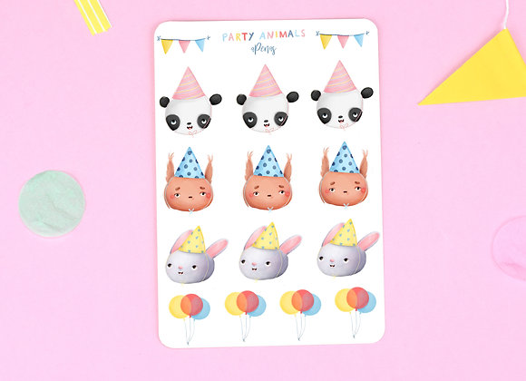 Party Animals Sticker Sheet 02