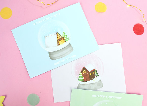 Postcard Pack Snow Globe