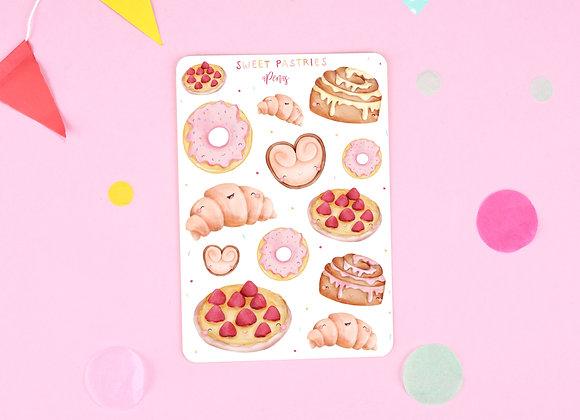 Pastries Sticker Sheet 01