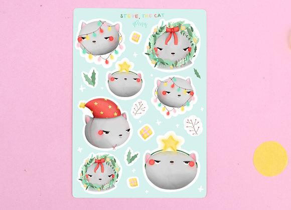 Steve the Cat Sticker Sheet 01