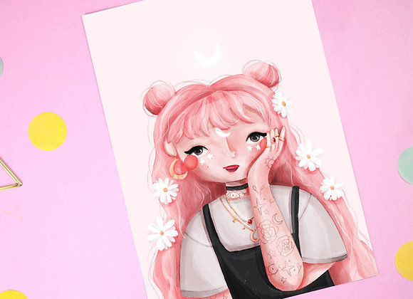DTIYS Pink Hair Print