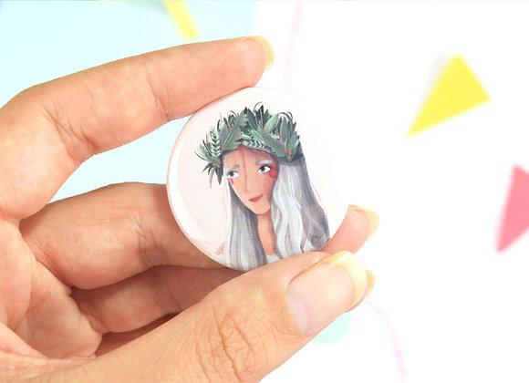 Flower Girl Button Badge Design