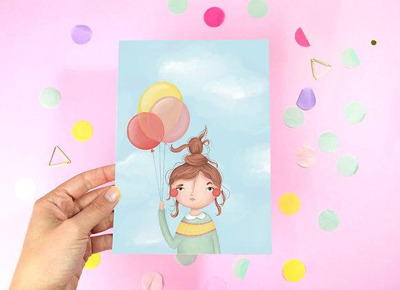 Ballon Girl Print