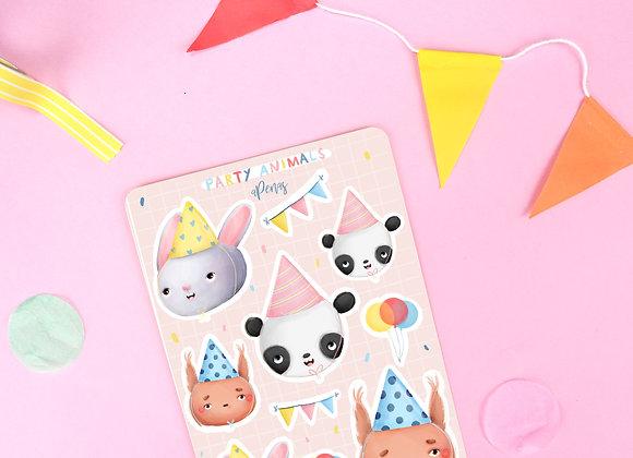 Party Animals Sticker Sheet 01