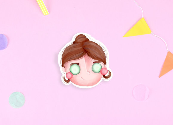 Relax Girl Sticker