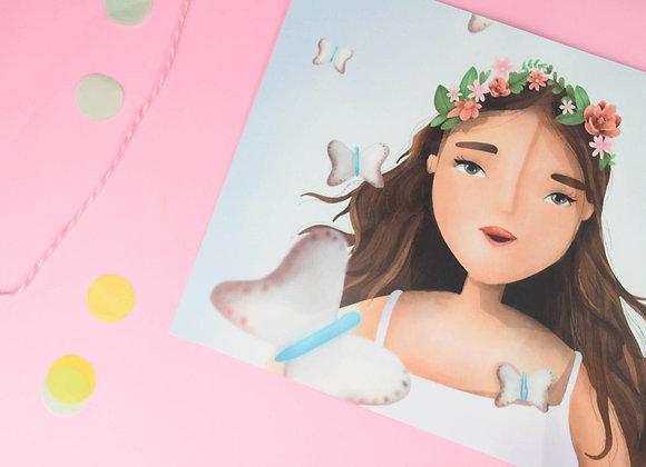 Buterfly Girl Print