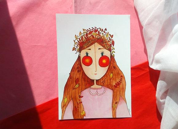 Fall Girl Print