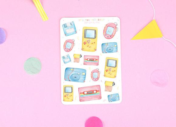 90's Theme Sticker Sheet 01