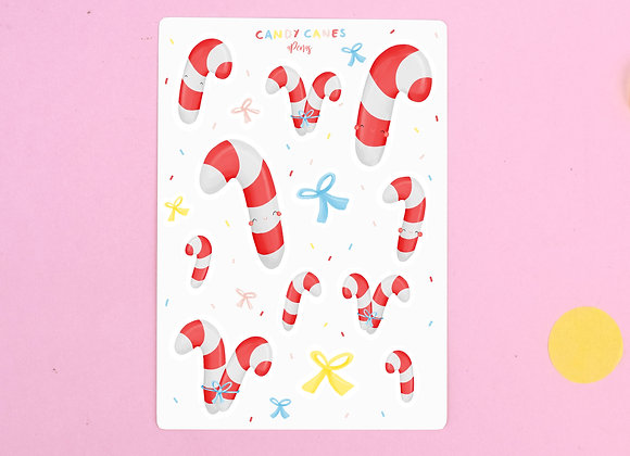 Candy Canes Sticker Sheet 01