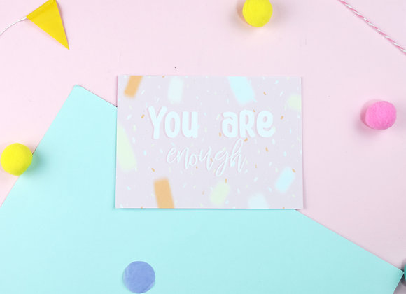 SECONDS You are Enough Postcards