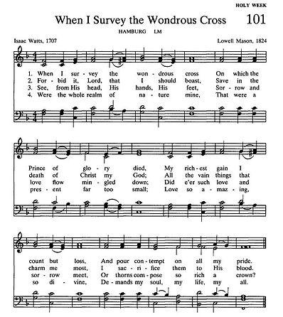 032121 When I Survey the Wondrous Cross.