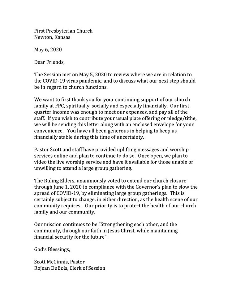 Session letter to church May6, 2020 mail