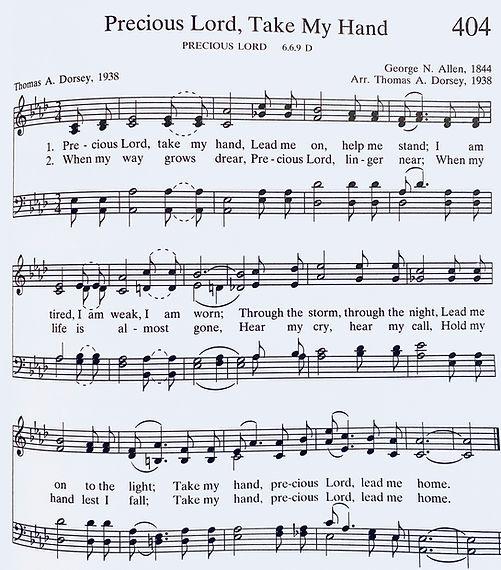071220 Precious Lord, Take My Hand hymn.