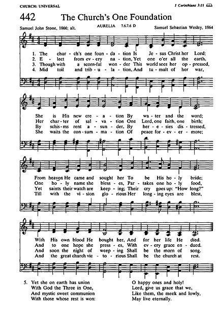 102520 The Church's One Foundation hymn
